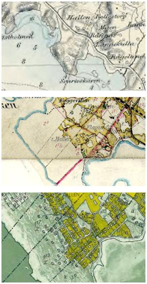 Historiska kartor över Vassbäck