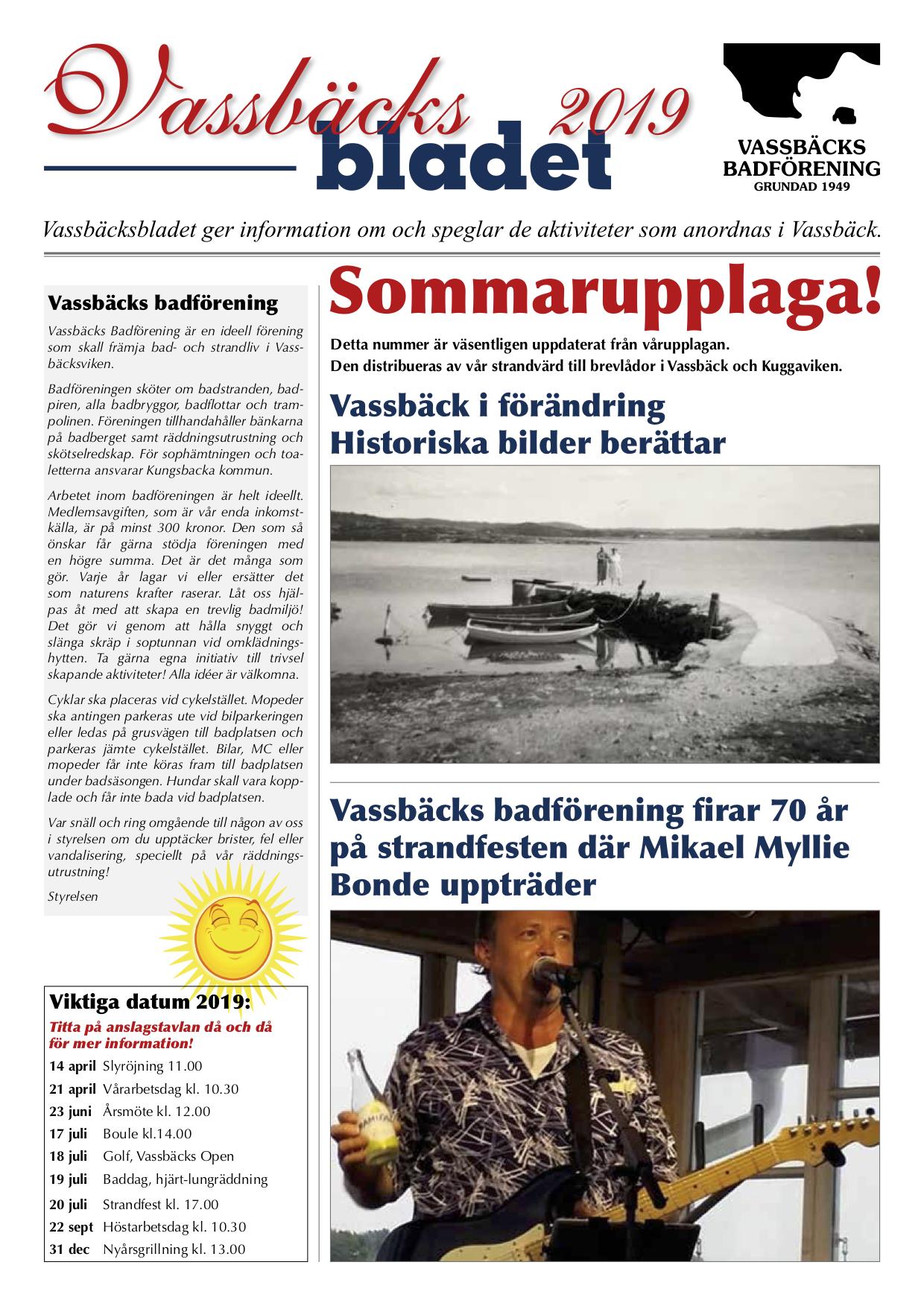 Vassbäcksbladet 2019 sommarupplaga