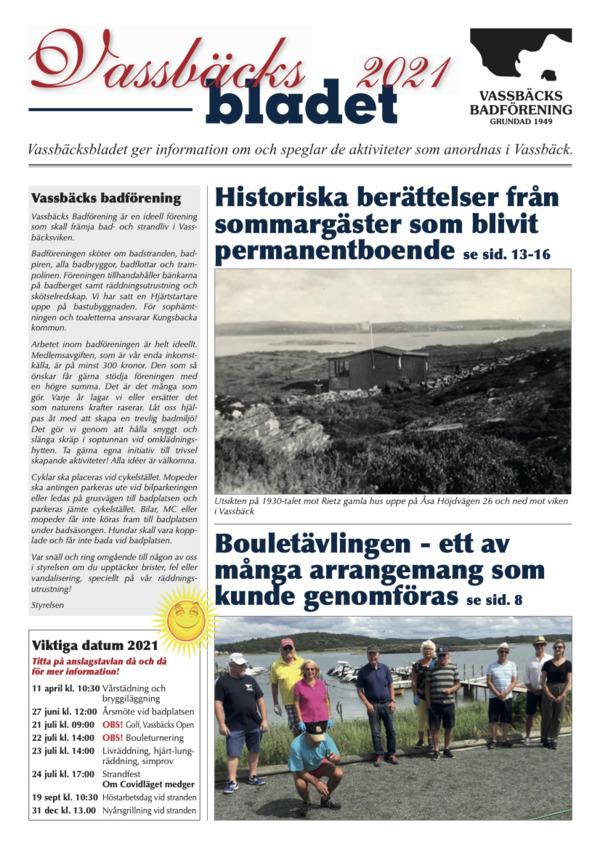 Vassbäcksbladet 2021